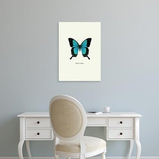 Easy Art Prints GraphINC's 'Blue Butterfly' Premium Canvas Art