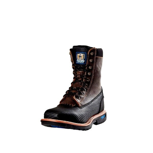 Cinch Work Boots Mens WRX Rubber Sole Distressed Black
