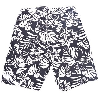 Tom Ford Men's Black Floral Print Swim Trunks - 32