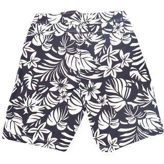 Tom Ford Men's Black Floral Print Swim Trunks - 32
