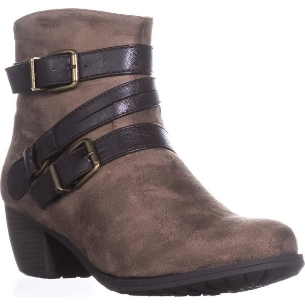 Easy Street Coby Ankle Booties, Taupe - 8.5 n us