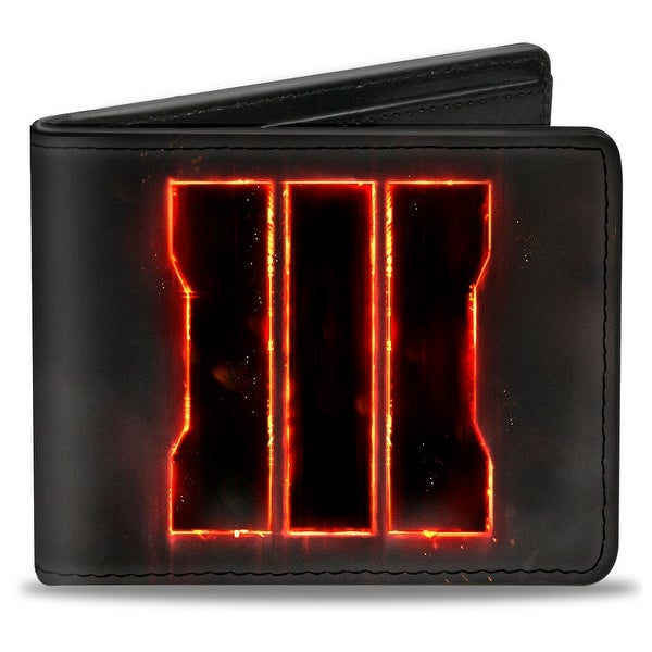 Call Of Duty Molten Trey Logo + Call Of Duty Black Ops Iii Black White Bi-Fold Wallet - One Size Fits most