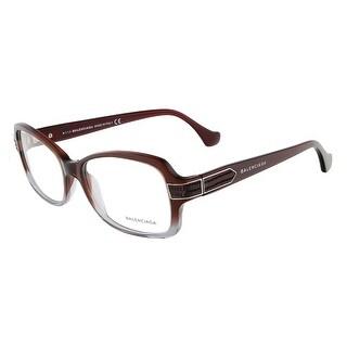 Balenciaga BA5005/V 068 Mahogany Gradient Grey Rectangular Opticals - 53-15-135
