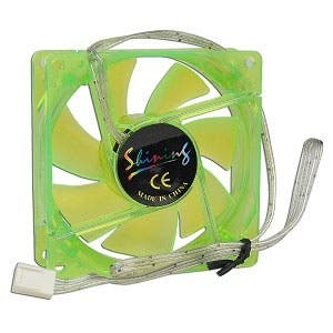 S8-08-UV-GO-BP UV Reactive Green 80mm Sleeve Bearing Blue LED 3-pin Case Fan