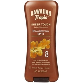 Hawaiian Tropic Lotion Sunscreen, SPF 8 8 oz