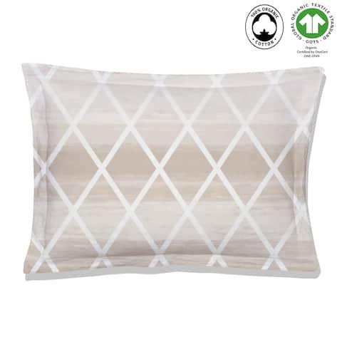 Geomania Reversible Print 100% Organic Cotton Pillowsham Pack of 2