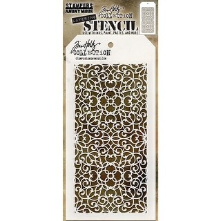 "Tim Holtz Layered Stencil 4.125""X8.5""-Ornate"