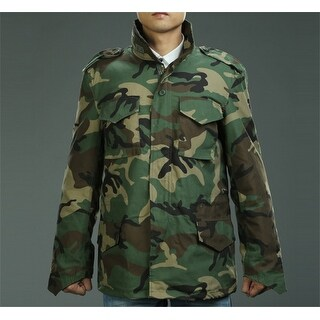 Camo M 65 Field Coat Camouflage Army Tactical Uniform Jacket M1965 Dark Green M M