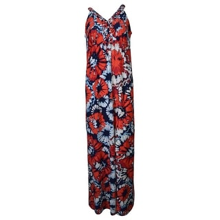 Style & Co. Women's Braided V-Neck Printed Maxi Dress
