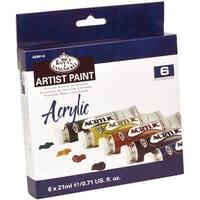 Acrylic Paint 21Ml 6/Pkg-Assorted Colors