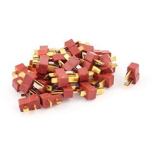 30Pcs Spring Clip Male Ultra T Plug Connectors for RC LiPo Battery