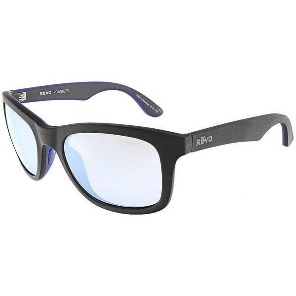 fdb7e77a27 Shop Revo Men s Polarized Huddie RE-1000-01-BL Matte Black Rectangle ...
