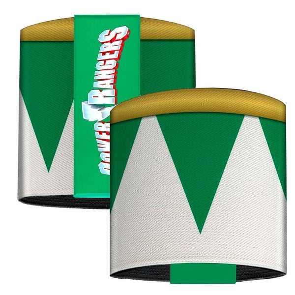 Green Ranger Sleeve Trim White Green Gold Elastic Wrist Cuff