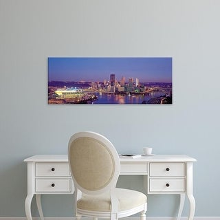 Easy Art Prints Panoramic Images's 'Pittsburgh, Pennsylvania, USA' Premium Canvas Art
