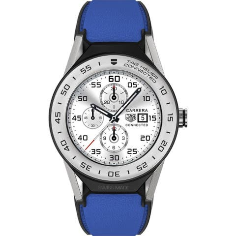 Tag Heuer Women's SBF818001.11FT8041 'Connected Modular' Blue Leather Watch - Multi