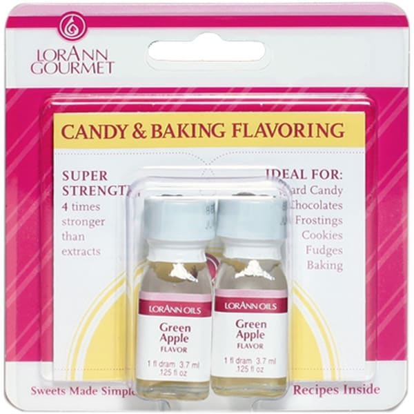Candy & Baking Flavoring .125oz 2/Pkg-Green Apple - Green