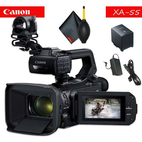 Canon XA55 Professional UHD 4K Camcorder with Accessory Bundle