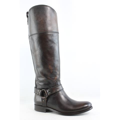 Frye Womens Melissa Harness Zip Brown Riding, Equestrian Boots Size 6.5
