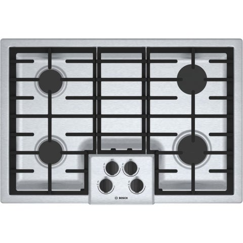 Bosch NGM5056UC 500 Series 30 Inch Wide Built-In Gas Cooktop with 4 Sealed Burne - STAINLESS STEEL - N/A