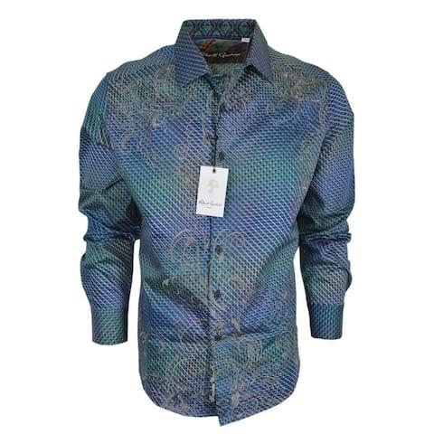 Robert Graham MARSH Ombre Optical Check Cotton Classic Fit Sports Shirt