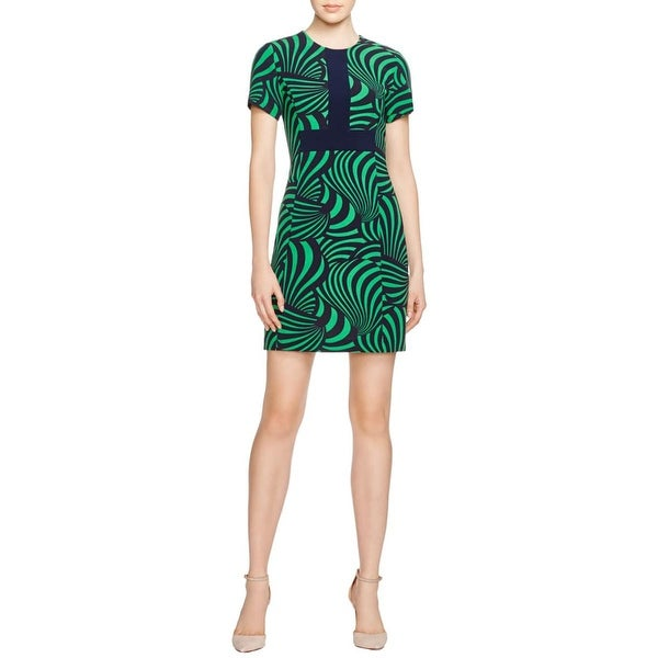 MICHAEL Michael Kors Womens Casual Dress Printed Short Sleeve