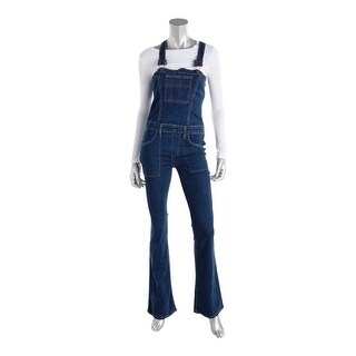 Joe's Jeans Womens Overall Jeans High-Waist Dark Wash