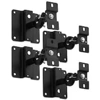 Mount-It! Quad Low Profile Satellite Speaker Ceiling and Wall Mount Brackets