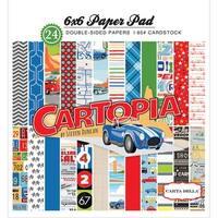 "Carta Bella Double-Sided Paper Pad 6""X6"" 24/Pkg-Cartopia, 12 Designs/2 Each"