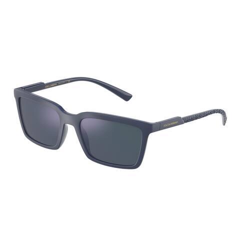 Dolce & Gabanna DG6151 329625 55 Matte Blue Man Rectangle Sunglasses