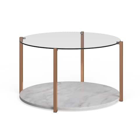 Avanti Warm Gold Cocktail Table