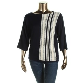 Lauren Ralph Lauren Womens Knit Striped Sweater - M