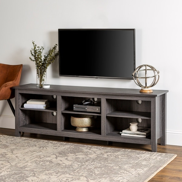 Copper Grove Beaverhead 70-inch Charcoal TV Stand Console. Opens flyout.
