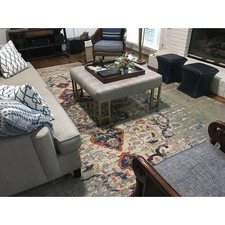 The Curated Nomad Granito Distressed Traditional Vintage Medallion Rug