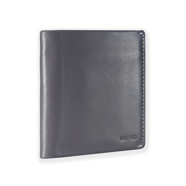 Ikepod Slim Carry Wallet (Grey of 7 Colour) [Italy Made // Top Leather] [RFID Blocking and Slim Stitching!]