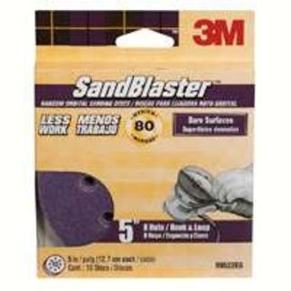 "3M 99522ES Sanding Discs, 5"", 80 Grit, 10 Pack"