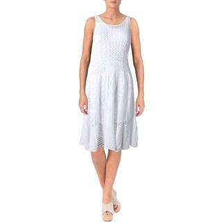 Lauren Ralph Lauren Womens Petites Casual Dress Knit A-line