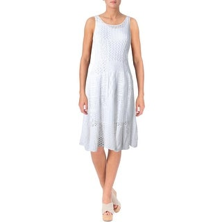 Lauren Ralph Lauren Womens Petites Casual Dress Knit A-line