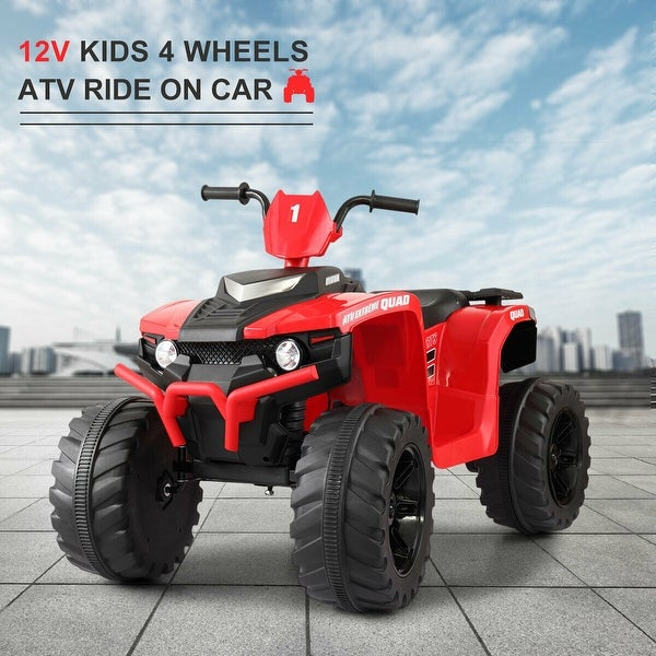 """12V Kids Ride On Car Electric ATV Quad Dune Buggy Beach Red - 7'6"""" x 9'6"""". Opens flyout."""