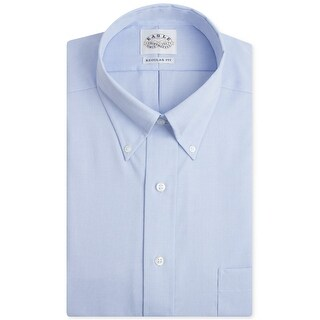 "Eagle Mens Non-Iron Button Up Dress Shirt, blue, 16.5"" Neck 35""-36"" Sleeve"