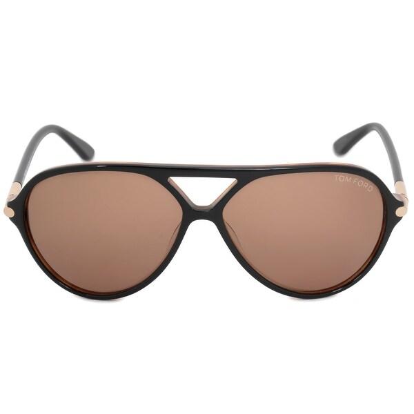 27b43397f273 Shop Tom Ford Leopold Aviator Sunglasses FT0197 05J 60 - Free ...