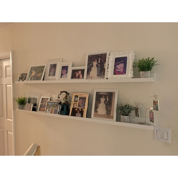 Inplace 60 Inch White Wall Mounted Floating Shelf Free Shipping On Orders Over 45 10792005