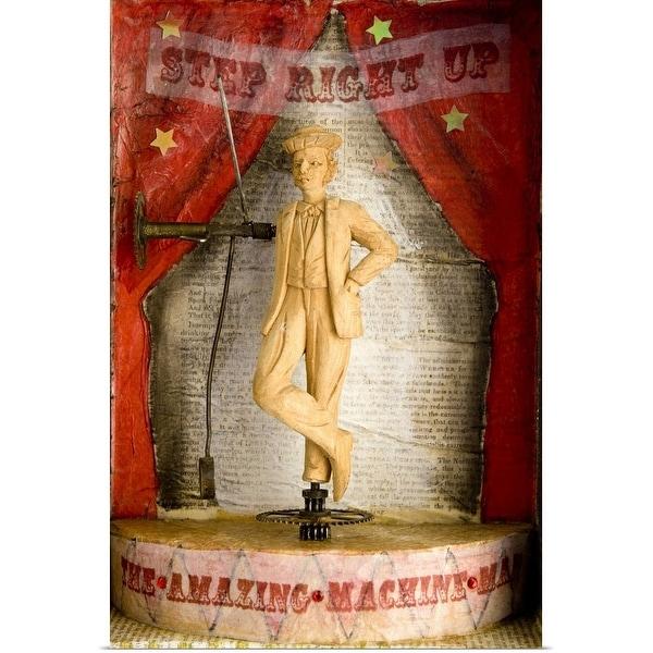 """Machine man sculpture at carnival"" Poster Print"