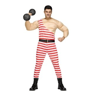 Mens Carny Muscle Man Circus Costume - standard - one size