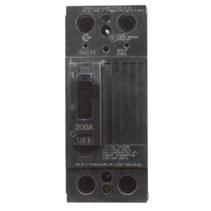 GE TQD22200WL Double Pole Bolt On Circuit Breakers, 200A