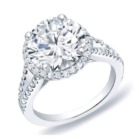 Auriya 14k Gold Halo Diamond Engagement Ring 1 3/4ctw Certified