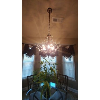 Holly 4-light Antique Copper Crystal Leaves Chandelier