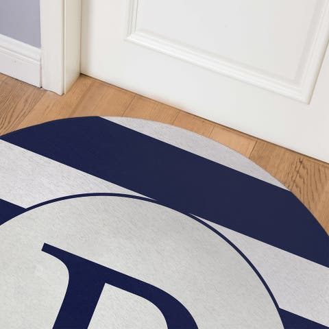 MONO NAVY STRIPED B Indoor Floor Mat By Kavka Designs
