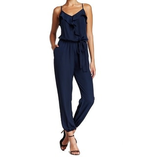 Collective Concepts NEW Blue Ruffled Women's Size Medium M Jumpsuit