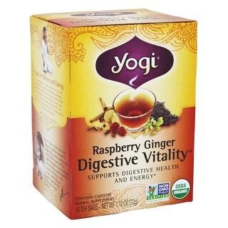 Yogi Tea Raspberry Ginger Digestive Vitality (16 Bags)