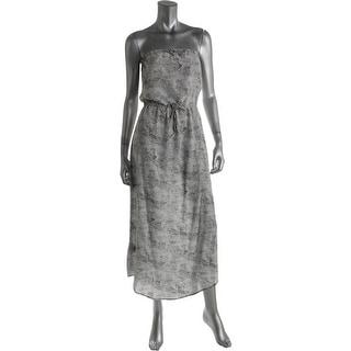 Joie Womens Andriela Silk Snake Print Maxi Dress